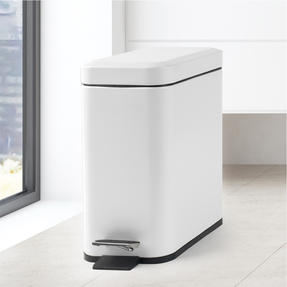 Salter Rectangular Kitchen Bathroom Pedal Bin, 5 Litre, White Thumbnail 10