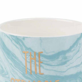 Portobello CM06123NBC Devon The Struggle Is Real New Bone China Mug, Blue Thumbnail 2