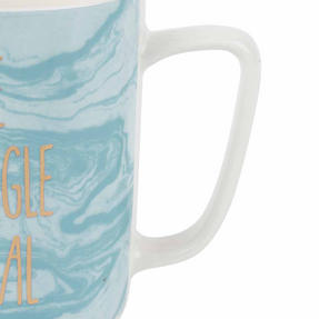 Portobello CM06123NBC Devon The Struggle Is Real New Bone China Mug, Blue Thumbnail 3
