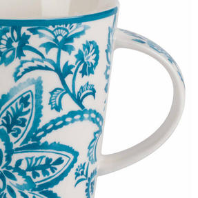 Cambridge CM06070 Lincoln Arrabella New Bone China Mug, Teal Thumbnail 3
