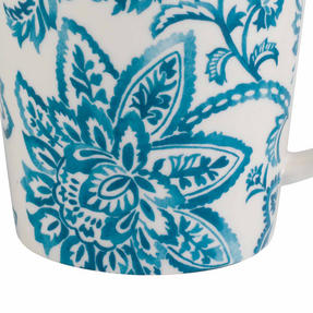 Cambridge CM06070 Lincoln Arrabella New Bone China Mug, Teal Thumbnail 4