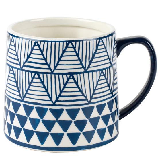 Portobello Tank Congo Stoneware Mug, Blue/White