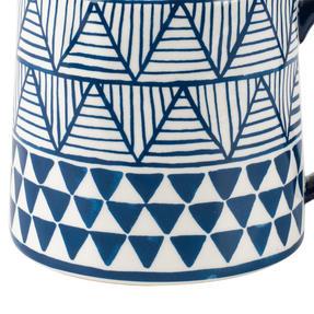 Portobello CM06043 Tank Congo Stoneware Mug, Blue/White Thumbnail 4