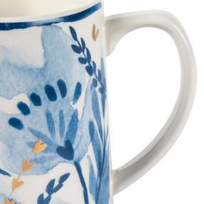 Portobello CM06053 Tank Dana Gold Stoneware Mug, Blue/Gold Thumbnail 3