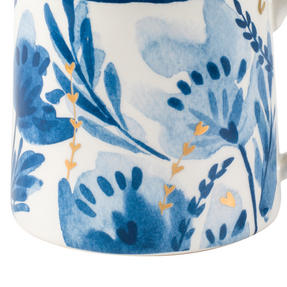 Portobello CM06053 Tank Dana Gold Stoneware Mug, Blue/Gold Thumbnail 4