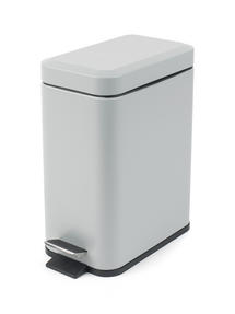 Beldray LA041173GRY Rectangular Waste Pedal Bin with Soft Closing Lid, 5 Litre, Grey Thumbnail 1