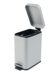 Beldray LA041173GRY Rectangular Waste Pedal Bin with Soft Closing Lid, 5 Litre, Grey Thumbnail 2