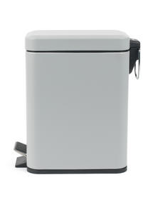 Beldray LA041173GRY Rectangular Waste Pedal Bin with Soft Closing Lid, 5 Litre, Grey Thumbnail 3