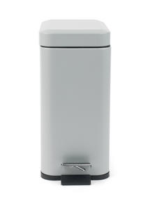 Beldray LA041173GRY Rectangular Waste Pedal Bin with Soft Closing Lid, 5 Litre, Grey Thumbnail 4