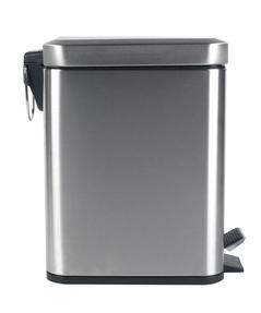 Beldray LA041173SS Rectangular Waste Pedal Bin with Soft Closing Lid, 5 Litre, Stainless Steel Thumbnail 2