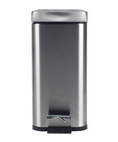 Beldray LA041173SS Rectangular Waste Pedal Bin with Soft Closing Lid, 5 Litre, Stainless Steel Thumbnail 3