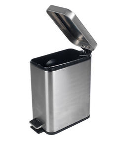 Beldray LA041173SS Rectangular Waste Pedal Bin with Soft Closing Lid, 5 Litre, Stainless Steel Thumbnail 4