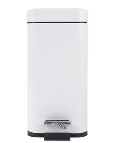 Beldray LA041173WHT Rectangular Waste Pedal Bin with Soft Closing Lid, 5 Litre, White Thumbnail 4