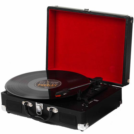 Intempo Wireless Bluetooth Retro Audio Turntable Vinyl Record Player