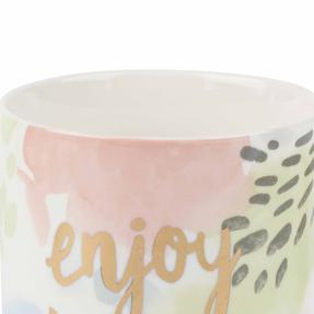 Portobello COMBO-2239 Esme and Tide Be Kind Enjoy Today Mugs, Set of 4, Pastel Colours Thumbnail 5