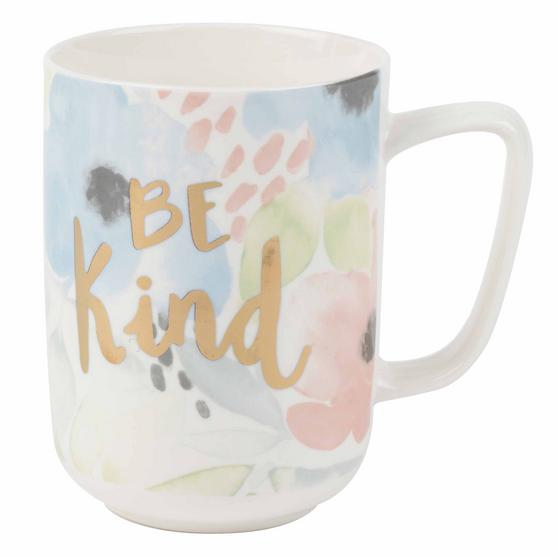 Portobello COMBO-2241 Esme Be Kind Devon Mugs, Set of 4, Pastel Colours