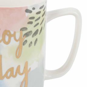 Portobello COMBO-2243 Tide Enjoy Today Devon Mugs, Set of 4, Pastel Colours Thumbnail 3