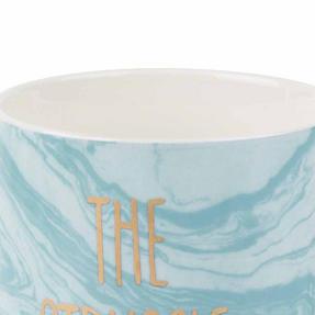 Portobello COMBO-2246 The Struggle Is Real Devon Mugs, Set of 6, Blue/White Thumbnail 3