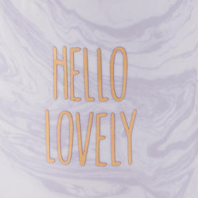 Portobello COMBO-2248 Hello Lovely Mugs, Set of 6, Purple/White Thumbnail 5