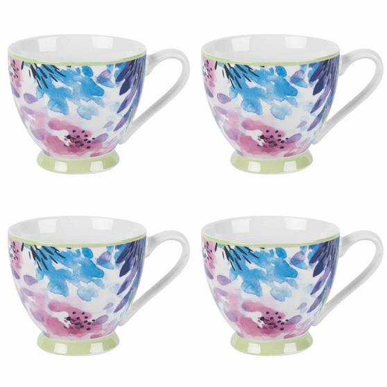 Portobello Adalyn Mint Sandringham NBC Floral Mugs, Set of 4