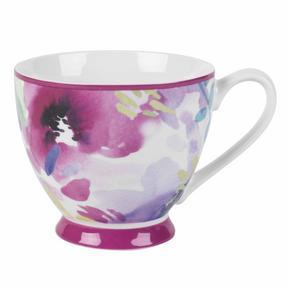 Portobello COMBO-2255 Faye Pink Sandringham NBC Floral Mugs, Set of 6