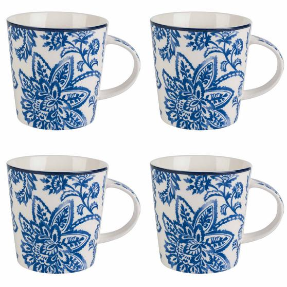 Cambridge COMBO-2257 Set of 4 Arrabella Blue Lincoln Mugs