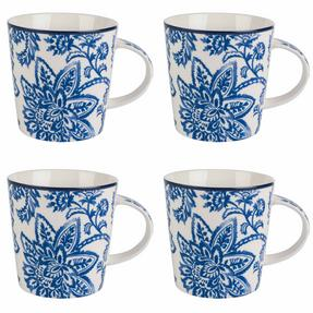 Cambridge COMBO-2257 Set of 4 Arrabella Blue Lincoln Mugs Thumbnail 1