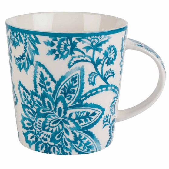 Cambridge Arrabella Teal Lincoln Mugs, Set of 4