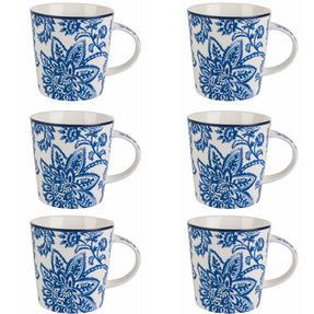 Cambridge COMBO-2259 Arrabella Blue Lincoln Mugs, Set of 6 Thumbnail 1