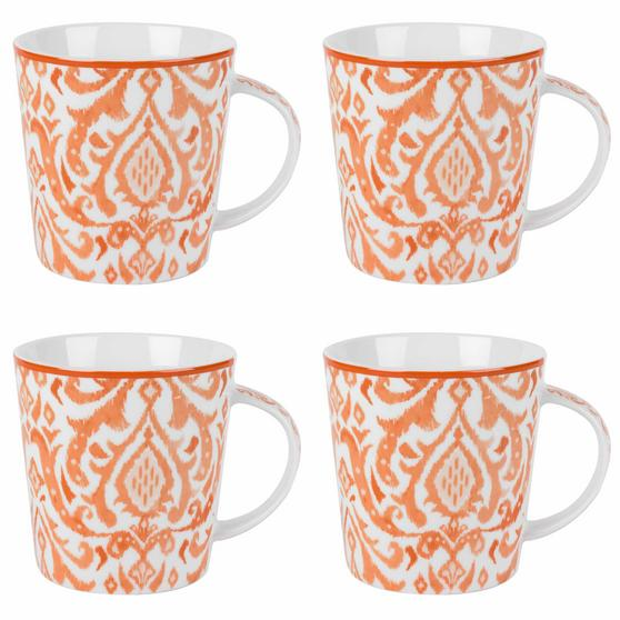 Cambridge COMBO-2261 Salma Orange Lincoln Mugs, Set of 4