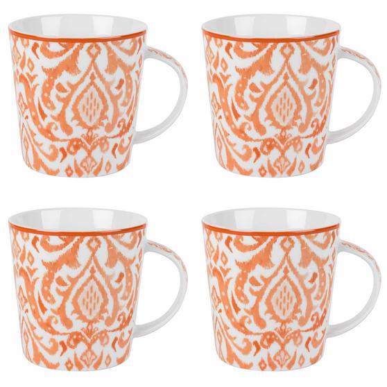 Cambridge Salma Orange Lincoln Mugs, Set of 4