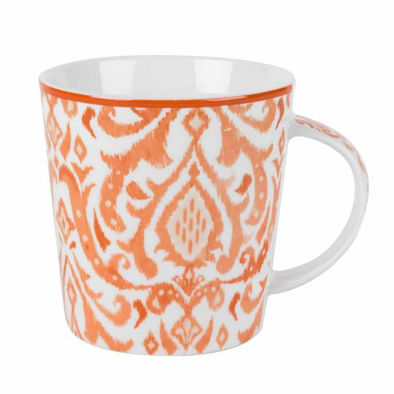 Cambridge Salma Orange Lincoln Mugs, Set of 4