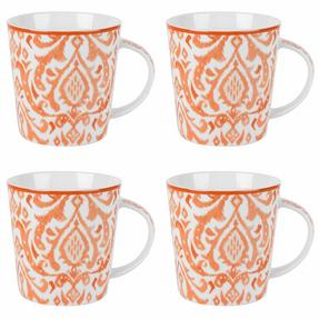 Cambridge COMBO-2261 Salma Orange Lincoln Mugs, Set of 4 Thumbnail 1