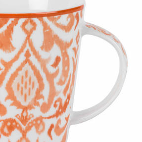 Cambridge COMBO-2261 Salma Orange Lincoln Mugs, Set of 4 Thumbnail 4