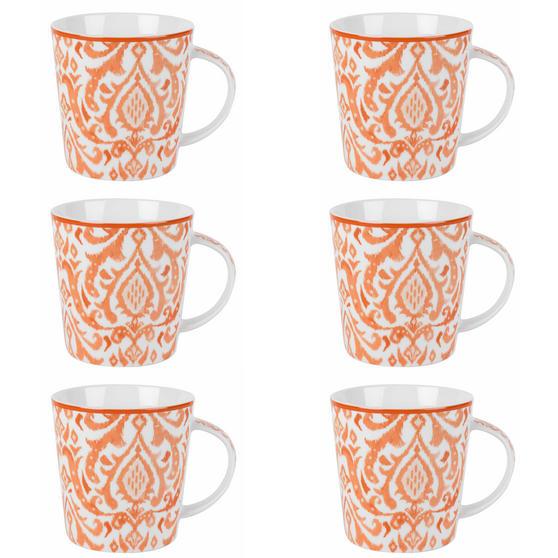 Cambridge Salma Orange Lincoln Mugs, Set of 6