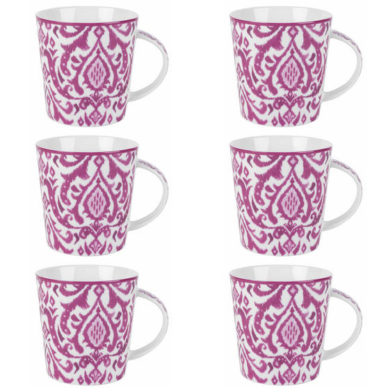 Cambridge Salma Pink Lincoln Mugs, Set of 6