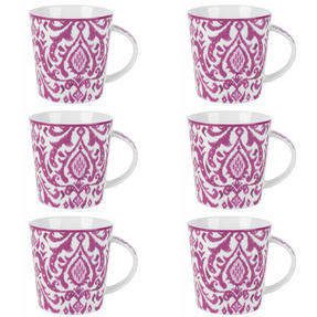 Cambridge COMBO-2264 Salma Pink Lincoln Mugs, Set of 6 Thumbnail 1