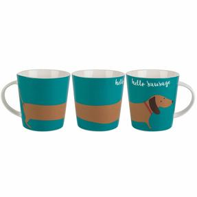 Cambridge COMBO-2266 Lincoln Hello Sausage Mugs, Set of 4 Thumbnail 1