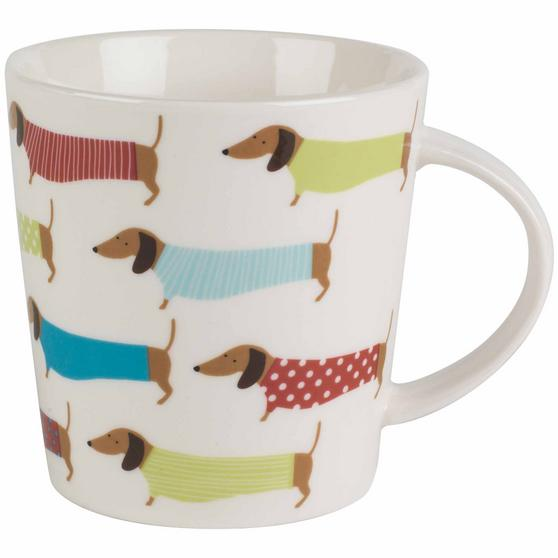 Cambridge COMBO-2267 Pop Dachshund Lincoln Mugs, Set of 6