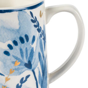 Portobello COMBO-2270 Dana and Irena Gold Tank Mugs, Set of 6, Blue/Gold Thumbnail 5