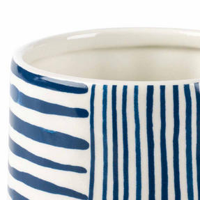 Portobello CM06060 Tank Zambezi Stoneware Mug, Blue/White, Set of Six Thumbnail 2