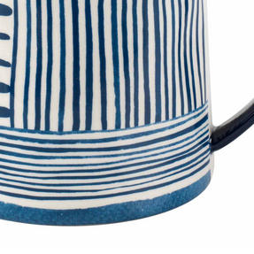 Portobello CM06060 Tank Zambezi Stoneware Mug, Blue/White, Set of Six Thumbnail 4