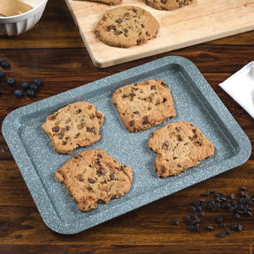 Salter Marble Collection Carbon Steel Non Stick 3 Piece Baking Tray Set, Grey Thumbnail 2