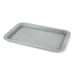 Salter Marble Collection Carbon Steel Non Stick 3 Piece Baking Tray Set, Grey Thumbnail 7