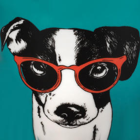 Oxford COMBO-2233 Dog and Cat In Glasses Mug Set, 4 Piece, Red / Teal Thumbnail 9