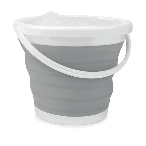 Beldray Set of 2 Collapsible Buckets, 10 Litre, Grey Thumbnail 1