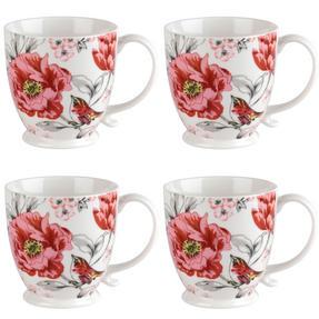 Cambridge COMBO-3042 Kensington Olivia Bright Fine China Mug, Set of 4 Thumbnail 1
