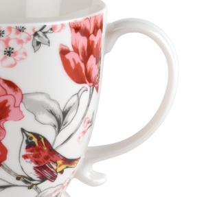 Cambridge COMBO-3042 Kensington Olivia Bright Fine China Mug, Set of 4 Thumbnail 4