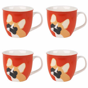 Cambridge COMBO-3046 Oxford Puppy Pal Bulldog Fine China Mug, Set of 4 Thumbnail 1