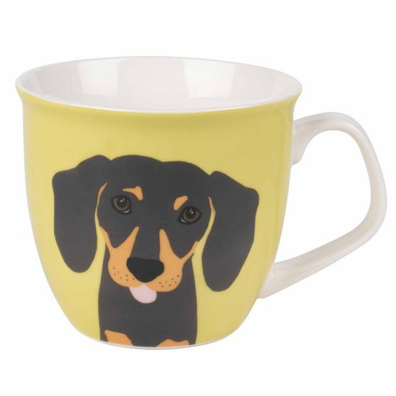 Cambridge Oxford Puppy Pal Daschund Fine China Mug, Set of 4